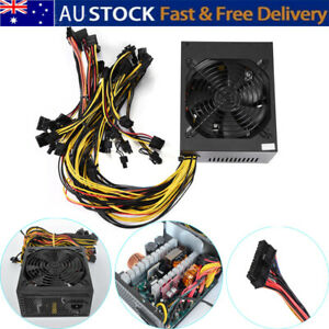 1800W Modular Mining Power Supply PSU for 8 GPU ETH Rig Ethereum Miner Tool AU