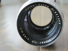 Zeiss Opton Sonnar 85mm 1:2  Lens - Vintage - USED - UNTESTED
