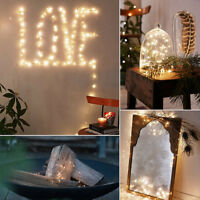 100LED Chain Solar Powered Copper Wire Lamp Outdoor Fairy Lights Chain Decor
