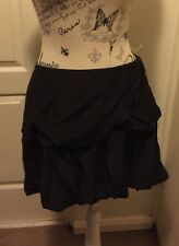 BNWT AUTHENTIC COUNTRY ROAD DESIGNER BUBBLE SKIRT 100% SILK PAID $129 BLACK