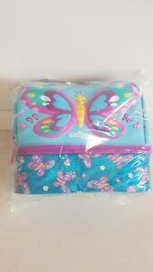 Smiggle Girl's Double Decker, BUTTERFLY Lunchbox With  Strap New With Tag $45.00