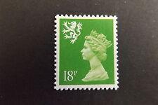 GB QEII Scotland SG S60a 18p Bright Green P.14  Regional Machin Definitive