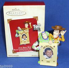 Hallmark Photo Holder Ornament Our Best Buddy Buzz Lightyear & Woody Toy Story 2
