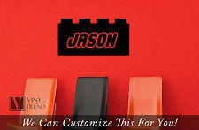 Lego brick with custom name wall decor vinyl decal lettering for lego room 2300
