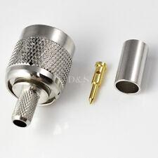 TNC Male Plug Crimp Rg58/142/400/223 Lmr195 RF Coaxial Connector Adapter Useful