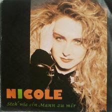 """7"""" 1991 ! NICOLE : Steh wie ein Mann zu mir // VG+? \"""