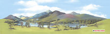 """PECO SK-11 Large Mountain Lake Scenic Background 228mm x 737mm (9""""x29"""") T48 Post"""