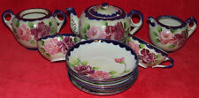 ANTIQUE JE-OH CHINA NIPPON HAND PAINTED PORCELAIN TEA SET BY NAGOYA SEITO 12pc.