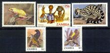 ZAMBIA 05 Different Large Mint Thematic Bird Animal Stamps