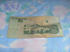 Old 5 dollar Singapore note - Bird series for sale