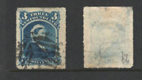 Faulty NEWFOUNDLAND Canada Used Queen Victoria Stamp #39 (#L3683)