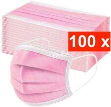 100 Medizinische OP Maske Typ IIR 2R Rosa Pink Mundschutz 3-lagig Einweg Schutz