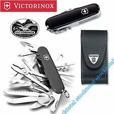 Navaja Victorinox SwissChamp Black + FUNDA PIEL COLOR NEGRO