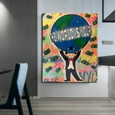 Alec Monopoly The World Is Yours Wall Decor Poster , no Framed, Alec Monopoly Th