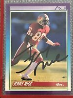 1990 Score Jerry Rice Auto Great Condition San Francisco 49ers 🐐GOAT