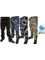 Mens Camouflage Army Combat Hard Wearing Trousers Night Urban Woodland 28 - 44