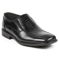 Men's Black Slip On Loafers Dress Classic Shoes B-02