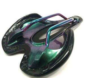 Supacaz Ignite Ti 155 Titanium Bicycle Saddle Oil Slick MSRP $200