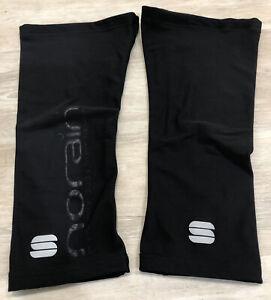 Sportful Norain Cycling Knee Warmer Unisex Size Large L Black Castelli Rapha EUC
