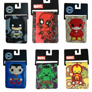 Comics Marvel Purse Captain America Spiderman Batman The Flash Bifold Wallets