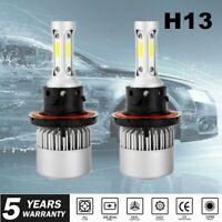 Pair H13 9008 2000W 285000LM CREE LED Headlight Bulb Kit Hi//Lo Beam 6000K White