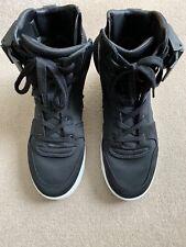 Men's Zara High Top Sneakers Military FOG Black Zip Strap Trainers