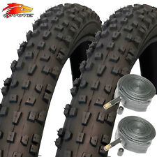 "2x Coyote TY2602N 26"" X 2.1 Grippy Mountain Bike Tyres with 2x Schrader Tubes"