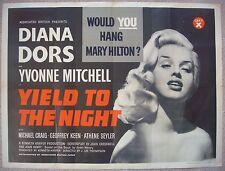 "British Quad BQ movie poster 30x40"" YIELD TO THE NIGHT Blonde Sinner 1956 VF C8."
