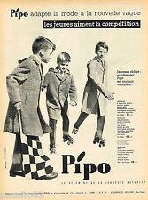 PUBLICITE ADVERTISING 055  1959  PIPO  manteaux garçons