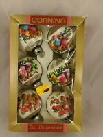 Corning Glass Wrapped Christmas Ornaments Balls Pinecones Bells Flowers