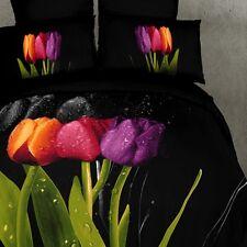 TULIP FLOWER SINGLE BED QUILT DOONER DUVET COVER SET  BEDROOM HOME DECOR