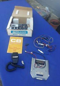 Vintage Midland 13-882C (23) Channel CB Radio & Mic in Original Box w/Mounting