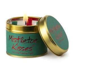 Brand New Lily Flame Mistletoe Kisses Christmas Candle Free P&P