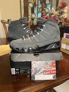 Nike Air Jordan IX 9 Retro Anthracite Grey White Black Gray 302370-013 Size 14
