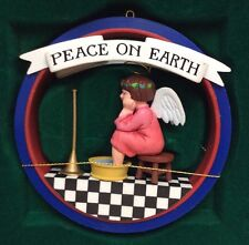 "Vintage 1987 Midwest Mary Engelbreit ""Peace On Earth"" Ornament"