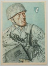 FALLSCHIRMJAGER Paratrooper Willrich German Postcard artwork cartolina