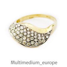 585 er Gold Ring Zirkonia 14ct 14k Gelbgold yellow gold