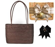 Bosom Buddy Large Charlotte Bag in Chocolate w/ Tan & White Bow & Painted Turtle