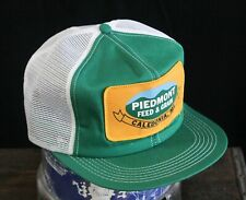 Vintage K PRODUCTS BRAND USA Made Trucker Hat Snapback Cap Patch Piedmont Grain