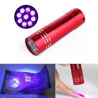 Mini 9 LED UV Gel Lamp Light Nail Dryer Flashlight Torch Machine Gel Polish New