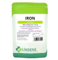 Lindens Fer 14mg 1 A JOUR Supplément de qualité 100 comprimés Ferreux Fumarate