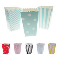 12PCS DIY Paper Popcorn Box Wedding Candy Bag Favor Wedding Birthday Party Decor