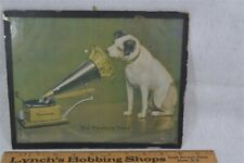 antique advertising sign Victor His Master Voice gramophone Nipper