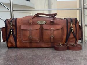 30 Inch Expandable Adjustable Leather large duffle travel weekend overnight bag