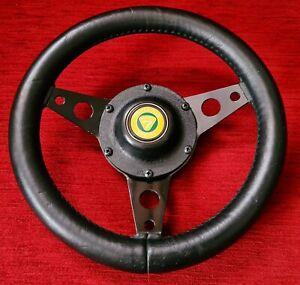 "Classic Avanti Lotus Elan Sprint Super 7 11.5"" Leather Steering Wheel & Boss Kit"