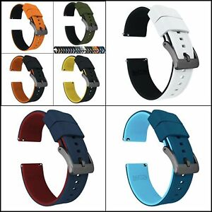Barton Elite Silicone Watch Band Quick Release 18mm - 24mm Universal Watch Strap