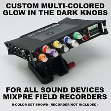 Sound Devices MixPre Custom Glow Pots Color-Coded Knobs 32 Colors for 3/6/10/II