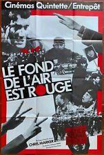 Affiche LE FOND DE L'AIR EST ROUGE Chris Marker 80x120cm