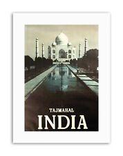 India Taj Mahal Palace Nero Bianco POSTER viaggio tela art prints