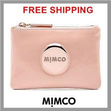Authentic Mimco PANCAKE patent Leather Rose Gold Small Pouch Wallet Purse DF